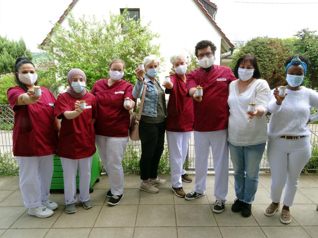 Honig als Dankeschön für Pflegekräfte in Esslingen